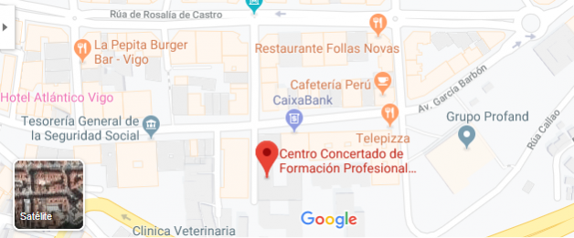 Localizacion Gmap do CPR Daniel Castelao